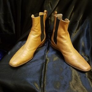 Charles Jourdan Natural Leather Ankle Boots, 5 1/2